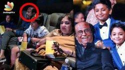 Rajini watches 2.0 with his grandsons   Yatra Dhanush, Latha Rajinikanth   Hot Tamil Cinema News