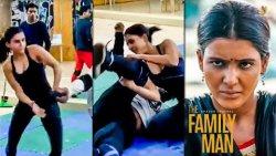 ஆண்களை அடி வெளுத்து வாங்கிய Samantha | Family Man 2 Making | Fight Scene Rehearsal, Amazon Prime