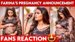 EMOTIONAL : தாய்மை அடைந்தார் Farina??   Bharathi kannamma   Venba   Pregancy Announcement   Azad