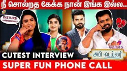 அவ சிரிப்ப பாத்தா கடுப்பா இருக்கும் - Reshma and Madhan Fun Interview   Abhi Tailor   Colors Tamil