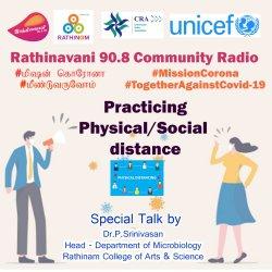 Rathinavani 90.8 CR   RCCE   UNICEF   CRA   Episode 5th   Practicing Physical/Social distance   RCAS   Micro Biology   HoD   Dr. Srinivasan   Expert Talk