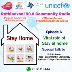 Mission Corona   Episode 6   RCCE   Vital role of Stay at home   Work From Home Norms   Stress   Depression   Dr. P. Srinivasan Talks   Rathinam CAS