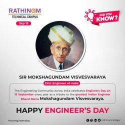 September 15   Former Chief Minister of Tamil Nadu   Conjeevaram Natarajan Annadurai Birthday   Greatest Indian Engineer   Bharat Ratna Sir Mokshagundam Vishweshvaraya Born Day   Engineer's Day 2020
