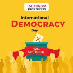 15 September   2020   International Day of Democracy 2020   Rathinam College   Journalism Students Survey with Community   Beliefs on Democracy