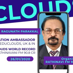 Rathinavani 90.8 Community Radio | Educlouds | Dr. Ragunath Parakkal | Sharing the plan of Educlouds World Record | Palakkad | Kerala