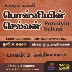 Ponniyin Selvan Part 3 - Chapter 6 | பொன்னியின் செல்வன் ஒலிப்புத்தகம் | Tamil Audiobook
