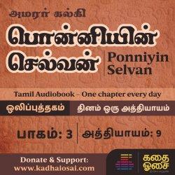 Ponniyin Selvan Part 3 - Chapter 9 | பொன்னியின் செல்வன் ஒலிப்புத்தகம் | Tamil Audiobook