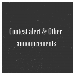 Contest alert and Other announcements