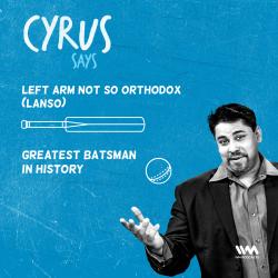 Ep. 502: LANSO: Greatest Batsman in History