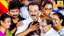 கலைஞருக்காக கதறிய பிரபலங்கள் : Celebrities Shed tears on Kalaignar Funeral | Stalin