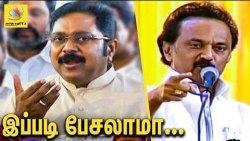 தலைவரான ஸ்டாலின் இப்படி பேசுவது சரியல்ல : TTV Dinakaran about Stalin Speech in DMK Meet