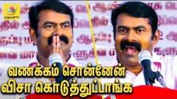 தமிழை இழிவா நினைக்காதீங்க : Naam Tamilar Seeman VISA Story in America | Latest Speech