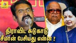மெரினா திராவிட சுடுகாடா ? சீமான் சர்ச்சை பேச்சு : Seeman Funnily Slams DMK | Latest Speech
