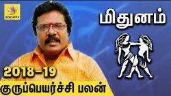 Mithuna Rasi Guru Peyarchi Palangal 2018 to 2019 | Tamil Astrology Predictions | Abirami Sekar