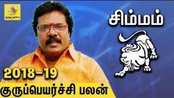 Simma Rasi Guru Peyarchi Palangal 2018 to 2019 | Tamil Astrology Predictions | Abirami Sekar