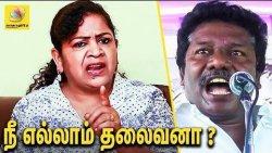 அரசியலுக்கு வாங்கனு யாரு அழுதா? : Prof. Sundaravalli Bold statement against Karunas | Interview