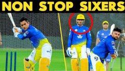 IPL 2019 : MS Dhoni & Raina NON Stop Sixers | Fans Cheers In Chepauk Stadium | CSK Practice Match