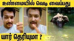 யானையின் சாவுக்கு காரணம் இவங்க தான் - Piyush Manush Latest Speech | Kerala Elephant Tragedy