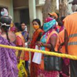 At Hyderabad Centre, Sanitation Workers Rush For Vaccines, Told No Go