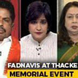 Sena Workers Taunt Devendra Fadnavis At Bal Thackeray Memorial Event