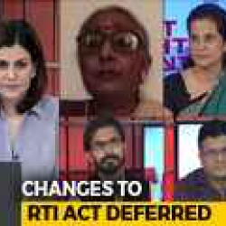 Changes To RTI Bill Deferred