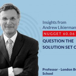 632: 60.06 Andrew Likierman - Question the solution set offered