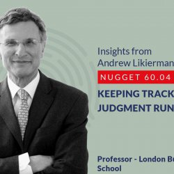 632: 60.04 Andrew Likierman - Keeping track of judgment run-rate