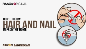 Don't throw hair and nail in front of home