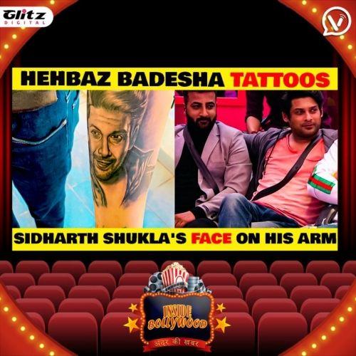 Shehbaz Badesha's tattoo tribute to Siddharth Shukla     इनसाइड बॉलीवुड   अंदर की खबर