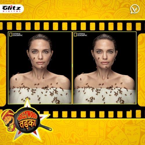 Angelina Jolie   का क्रेजी फोटोशूट   मधुमक्खियों के साथ   Hollywood तड़का   दी हिंदी रिव्यू शो    The Review Show