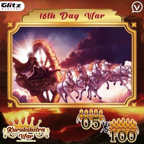 Day 16 :  Kauravas - Makara Vyuha vs Pandavas - Ardha Chandra Vyuha    Kurukshetra War