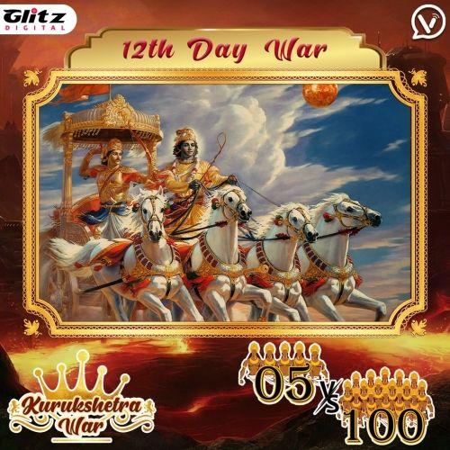 Day 12 : Kauravas - Garuda Vyuha  vs Pandavas - Ardha Chandra Vyuha   Kurukshetra War