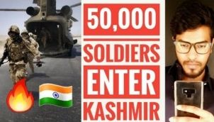 India's 50,000 Soldiers Enter Jammu and Kashmir