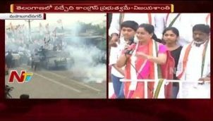 VIjayashanthi Powerful Speech at Mahaboob Nagar Election Campaigning