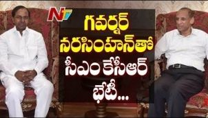 CM KCR Meets Governor Narasimhan At Raj Bhavan