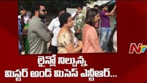 Jr NTR Speaks to Media After Casting His Vote | #TelanaganaElections