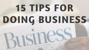 15 TIPS FOR DOING BUSINESS