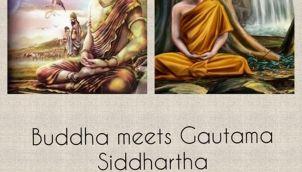 BUDDHA MEETS GAUTAM SIDDHARTHA.